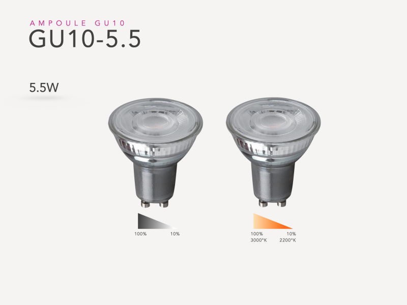 Photo de la GU10 5.5W led