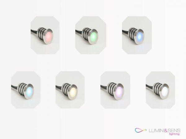 ENCASTRE DE SOL LED 0.5W RGB