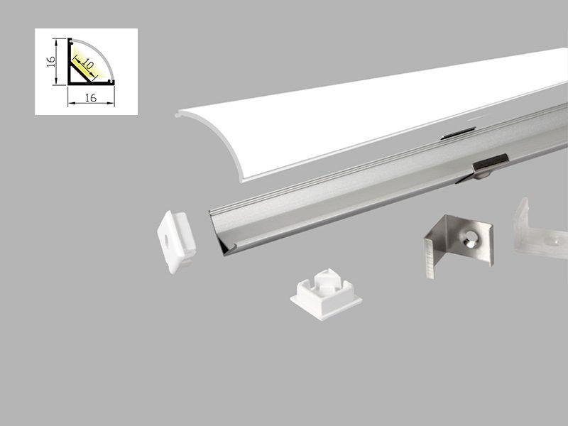 Profilé d'angle 16x16/10 Rubans LED
