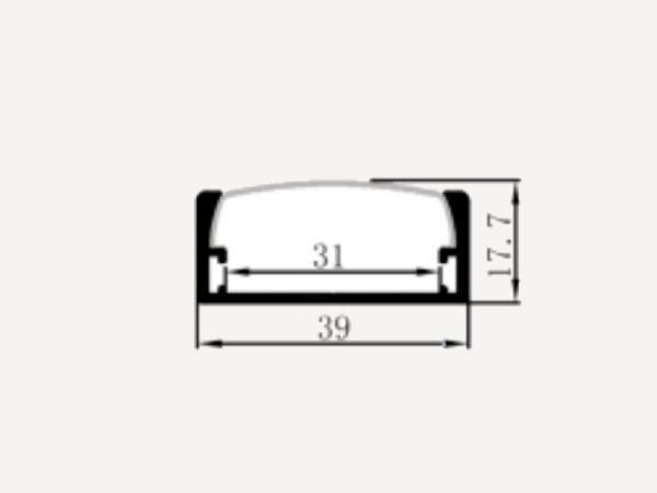 Profilé plat 39x16/28