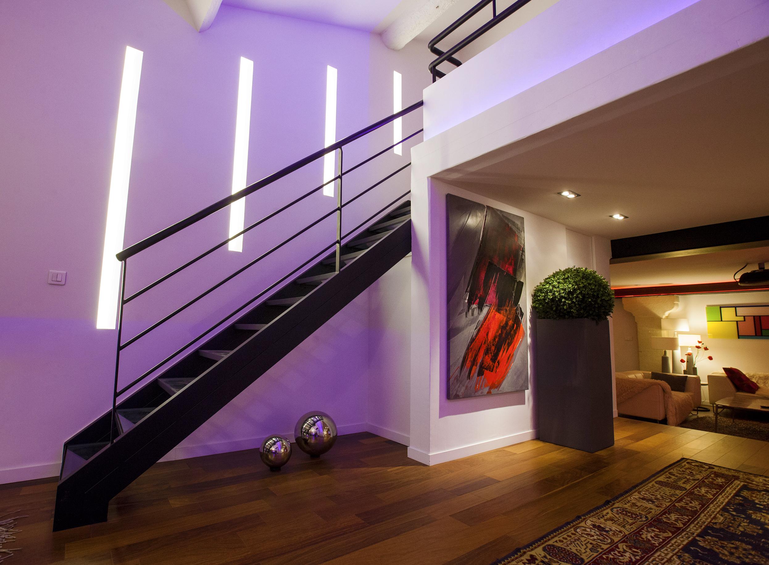 Éclairage design pour un Loft Montpelliérain