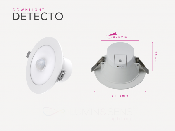 DETECTO LED 8W LUMIN&SENS