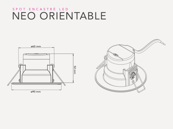 Schéma technique NEO orientable